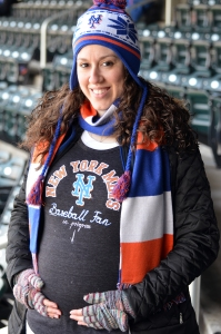 Mets Opening Day 2014 - Baby Bump Unveiling Style